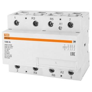 Контактор модульный КМ100/4-100 4НО TDM 6 модулей
