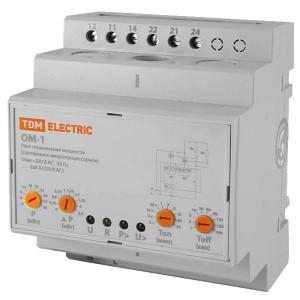 Ограничитель мощности ОМ-1 3-30кВт, 1-фазный, с реле напряжения TDM