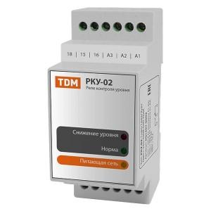 Реле контроля уровня РКУ-02 230/400В, «наполнение» или «дренаж», 3 датчика (без датчиков) TDM