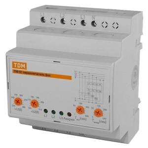 Универсальный автоматический переключатель фаз ПФ-01 3х16А, Uмин160-210В, Uмакс230-280В TDM