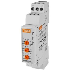Однофазное реле контроля напряжения РН-1 5А 220В TDM