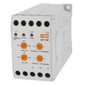 Реле контроля фаз ЕЛ-11М 3х380В один перекидной контакт TDM