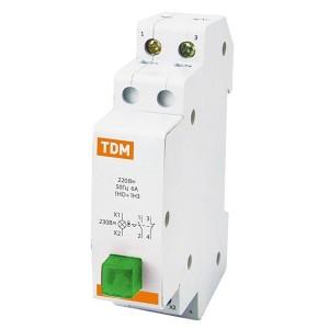 Выключатель кнопочный c фиксацией и индикацией ВК-47M 1НО;1НЗ зеленый TDM