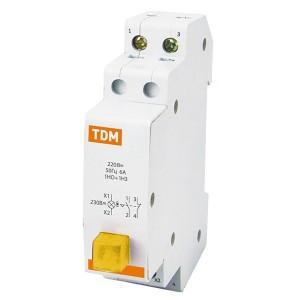 Выключатель кнопочный c фиксацией и индикацией ВК-47M 1НО;1НЗ желтый TDM