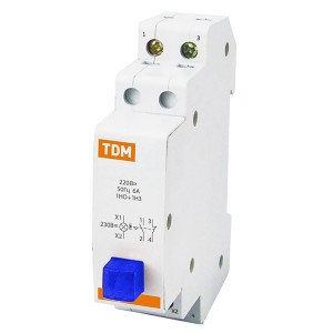 Выключатель кнопочный c фиксацией и индикацией ВК-47M 1НО;1НЗ синий TDM