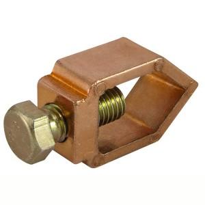 Зажим овальный алюминиевый медное покрытие 1-болтовой ЗОАМ14 стержень D14 - провод 16-70 мм2 TDM