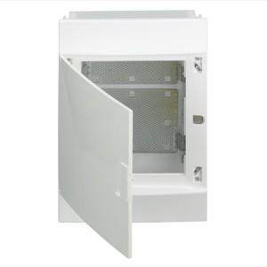 Бокс мультимедийный в нишу ABB Mistral41F 3х18М с монтажной платой непрозрачной дверью M41C54X310850