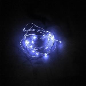 Гирлянда линейная CL570 20LED синий батарейки 2АА 2м +500mm провод