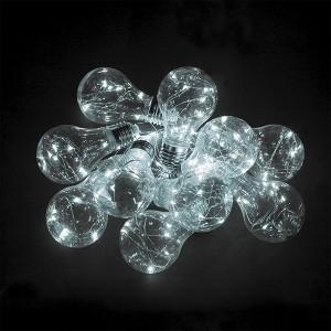 Гирлянда CL580 лампочки 10 подвесов белый 5000К IP20 3m +0.5m, батарейки 3АА