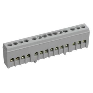 Шина L фаза 14х10мм2 изолированная на DIN-рейку ШНИ-6х9-14-К-Ср ИЭК