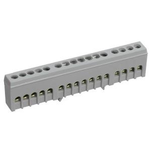 Шина L фаза 16х10мм2 изолированная на DIN-рейку ШНИ-6х9-16-К-Ср ИЭК
