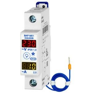 Вольтамперметр ВАР-М01 измерение и индикация сетевого напряжения и тока 63А 450В УХЛ4