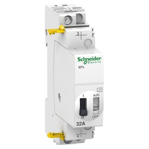 Блок расширения импульсного реле Schneider Electric iЕTL 32A 1 полюса 1НО 230В АС 110В DC 1 модуль