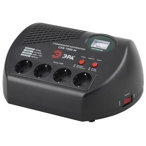 Стабилизатор напряжения СНК-1500-М 160-260В, 1500ВА, 4 розетки, метрический дисплей ЭРА