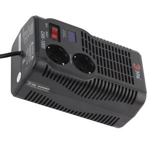 Стабилизатор напряжения СНК-1000 160-260В, 1000ВА, 2 розетки, цифровой дисплей ЭРА
