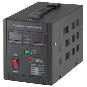 Стабилизатор напряжения СНПТ-1000-Ц 140-260В, 1кВА, цифровой дисплей ЭРА