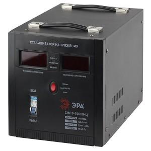 Стабилизатор напряжения СНПТ-10000-Ц 140-260В, 10кВА, цифровой дисплей ЭРА