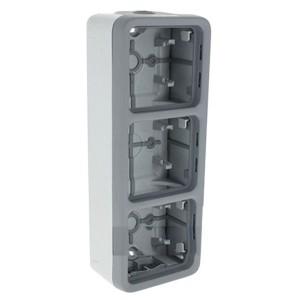 Коробка вертикальная 3 поста накладного монтажа Legrand Plexo IP55, серый