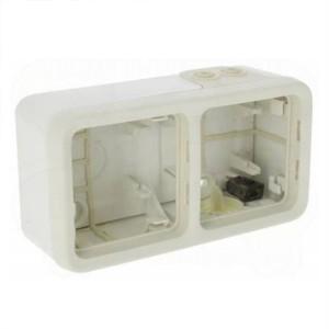 Коробка горизонтальная 2 поста накладного монтажа Legrand Plexo IP55, белый