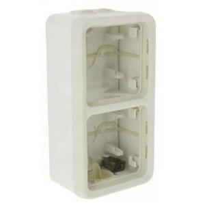 Коробка вертикальная 2 поста накладного монтажа Legrand Plexo IP55, белый