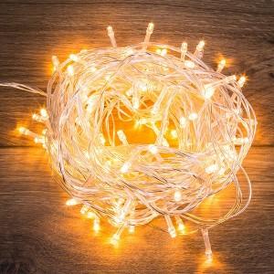 Гирлянда Твинкл Лайт 10 м, прозрачный ПВХ, 80 LED, цвет ТЕПЛЫЙ БЕЛЫЙ