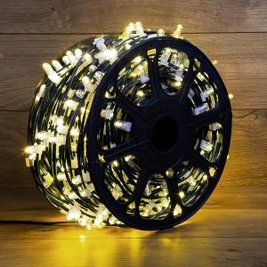 Гирлянда LED ClipLight 12V  шаг 150 мм, цвет диодов ТЕПЛЫЙ БЕЛЫЙ, Flashing (Белый)