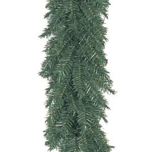 Гирлянда «Еловый шлейф», Длина 270 см, диаметр 30 см, Ветки Литые + ПВХ