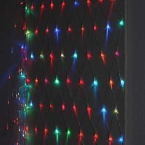 Гирлянда ENIS-01R ЭРА LED Сеть 1,8x1,5m RGB 8 режимов, 220V, IP20