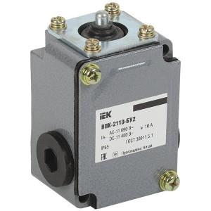 Выключатель концевой ВПК-2110-БУ2, с толкателем  1НЗ+1НР, IP65, IEK