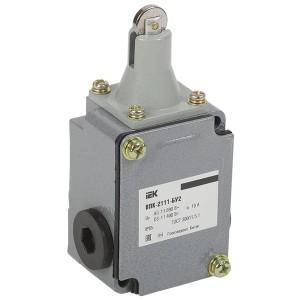 Выключатель концевой ВПК-2111-БУ2, толкатель с роликом 1НЗ+1НР, IP65, IEK