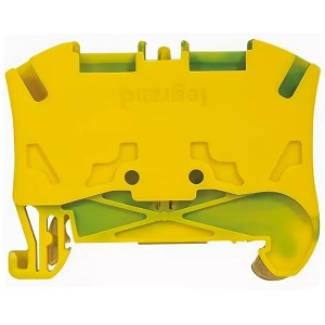 Пружинная клемма Viking 3 Legrand заземляющая однополюсная 2 проводника 10мм шаг 10мм желто-зеленый