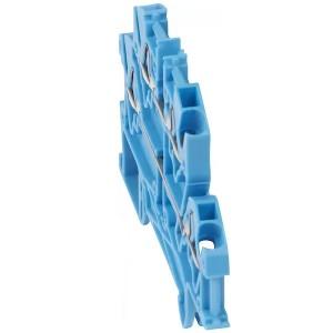 Пружинная клемма Viking 3 Legrand двухполюсная 4 проводника 4мм шаг 5мм синий