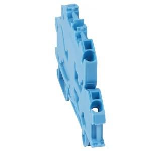 Пружинная клемма Viking 3 Legrand двухполюсная 4 проводника 4мм шаг 6мм синий