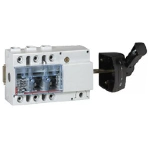 Выключатель-разъединитель Legrand Vistop 125A 3 полюса черная рукоятка сбоку 7,5 модуля