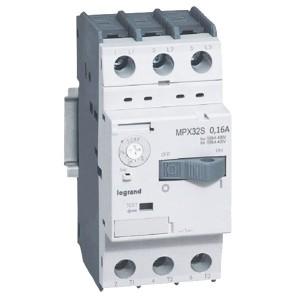 Автоматический выключатель для защиты электродвигателей Legrand MPXз T32S 0,16A 100kA (автомат)