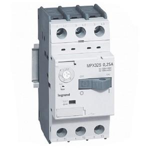 Автоматический выключатель для защиты электродвигателей Legrand MPXз T32S 0,25A 100kA (автомат)