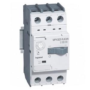 Автоматический выключатель для защиты электродвигателей Legrand MPXз T32S 0,63A 100kA (автомат)