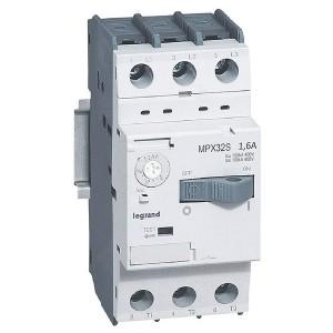 Автоматический выключатель для защиты электродвигателей Legrand MPXз T32S 1,6A 100kA (автомат)