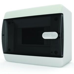 Щит навесной Tekfor 6 (1x6) модулей IP41 прозрачная черная дверца CNK 40-06-1