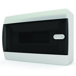 Щит навесной Tekfor 12 (1x12) модулей IP41 прозрачная черная дверца CNK 40-12-1