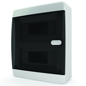 Щит навесной Tekfor 18 (2x9) модулей IP41 прозрачная черная дверца CNK 40-18-1