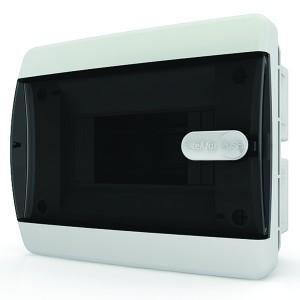 Щит встраиваемый Tekfor 6 (1x6) модулей IP41 прозрачная черная дверца CVK 40-06-1