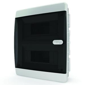 Щит встраиваемый Tekfor 18 (2x9) модулей IP41 прозрачная черная дверца CVK 40-18-1