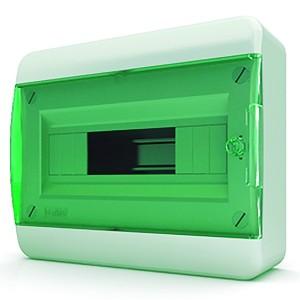 Щит навесной Tekfor 12 (1x12) модулей IP41 прозрачная зеленая дверца BNZ 40-12-1