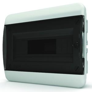 Щит встраиваемый Tekfor 12 (1x12) модулей IP41 прозрачная черная дверца BVK 40-12-1