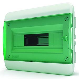 Щит встраиваемый Tekfor 12 (1x12) модулей IP41 прозрачная зеленая дверца BVZ 40-12-1