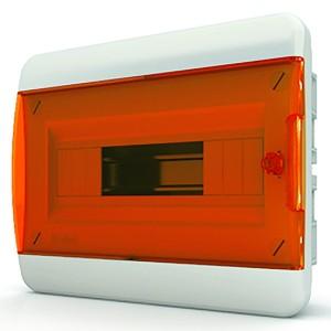 Щит встраиваемый Tekfor 12 (1x12) модулей IP41 прозрачная оранжевая дверца BVO 40-12-1