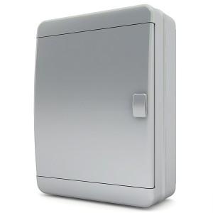 Щит навесной Tekfor 24 модуля (2х12) IP65 непрозрачная серая дверца BNN 65-24-1
