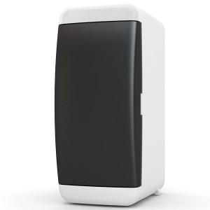 Щит навесной Tekfor 2 (1x2) модуля IP41 непрозрачная черная дверца UNB 40-02-2