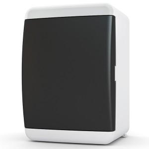 Щит навесной Tekfor 4 (1x4) модуля IP41 непрозрачная черная дверца UNB 40-04-2